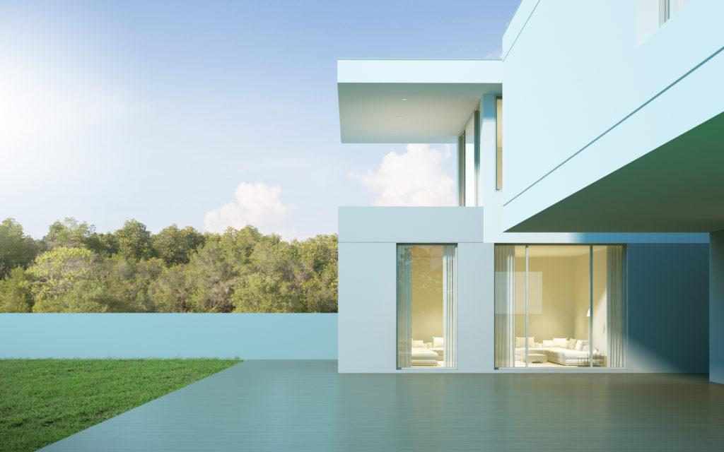 villa moderne - baies vitrées - groupe AGEMI