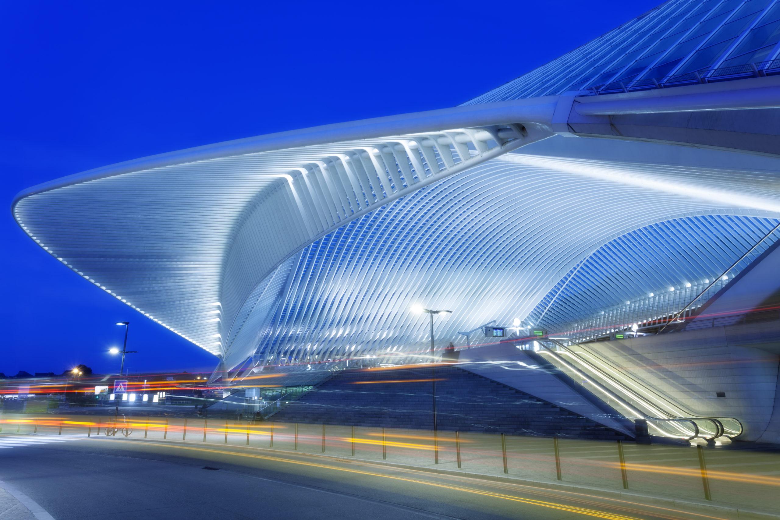 Gare de liège - batiment futuriste - cea Belgium