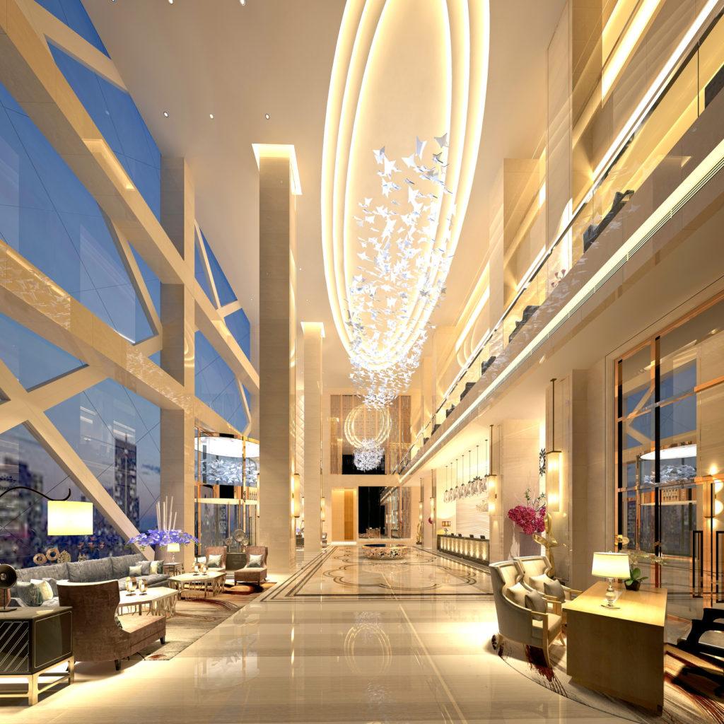 hall design d'un hôtel - assurances architecte intérieur - produit cea